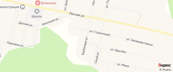 Березовая улица на карте железнодорожной станции Муслюмово с номерами домов