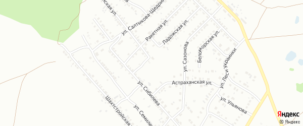 Астраханская улица на карте Копейска с номерами домов