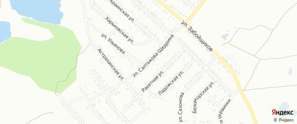 Улица Салтыкова-Щедрина на карте Копейска с номерами домов