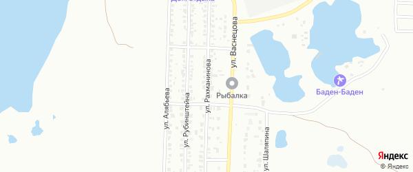 Улица Рахманинова на карте Копейска с номерами домов