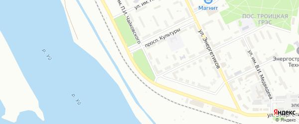 Улица им П.И.Чайковского на карте Троицка с номерами домов