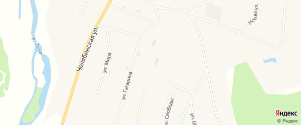 Молодежная улица на карте села Муслюмово с номерами домов