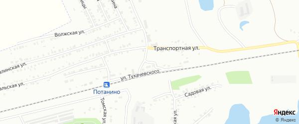 Улица Тухачевского на карте Копейска с номерами домов