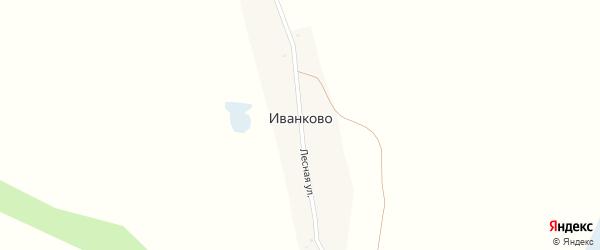 Лесная улица на карте поселка Иванково с номерами домов