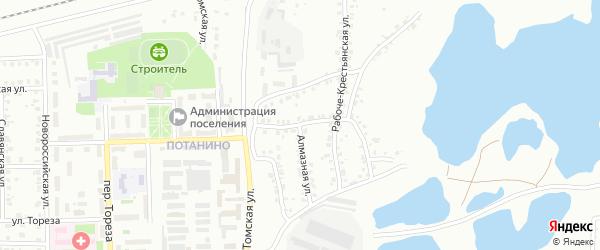 Переулок Павлика Морозова на карте Копейска с номерами домов
