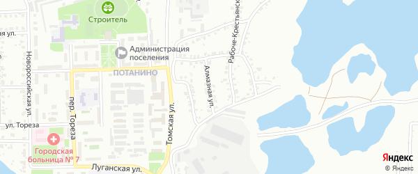 Алмазная улица на карте Копейска с номерами домов