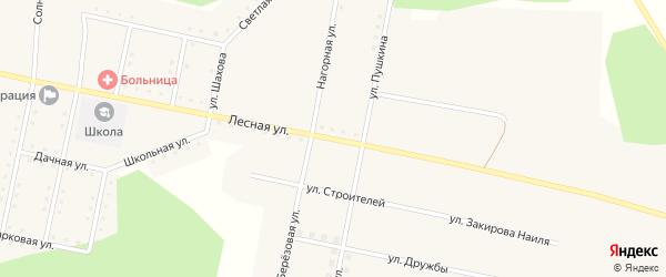 Лесная улица на карте села Муслюмово с номерами домов