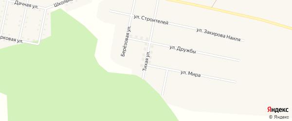 Тихая улица на карте железнодорожной станции Муслюмово с номерами домов