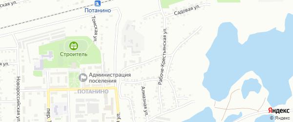Хрустальный переулок на карте Копейска с номерами домов