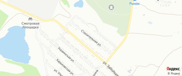Строительная улица на карте Копейска с номерами домов