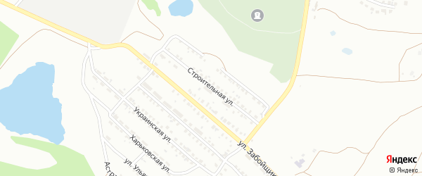 Строительная улица на карте села Синеглазово с номерами домов