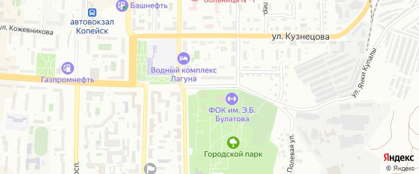 Пионерская улица на карте Копейска с номерами домов