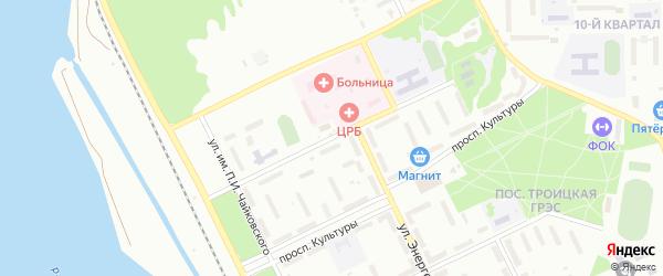 Улица им Н.К.Крупской на карте Троицка с номерами домов