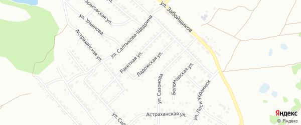 Ладожская улица на карте Копейска с номерами домов