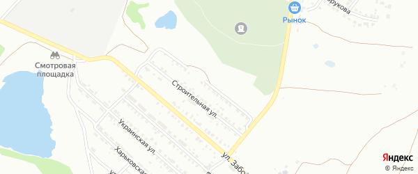 Строительная 2-я улица на карте Копейска с номерами домов