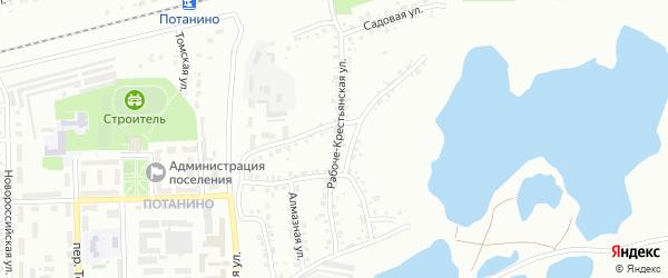 Рабоче-Крестьянская улица на карте Копейска с номерами домов