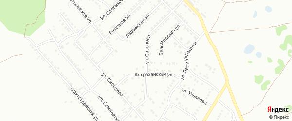 Улица Сазонова на карте Копейска с номерами домов