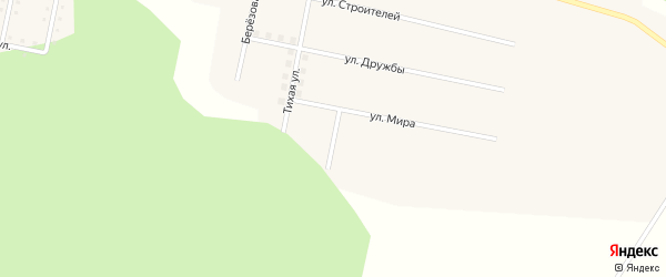 Цветочная улица на карте железнодорожной станции Муслюмово с номерами домов