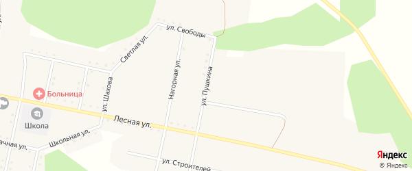 Улица Пушкина на карте села Муслюмово с номерами домов
