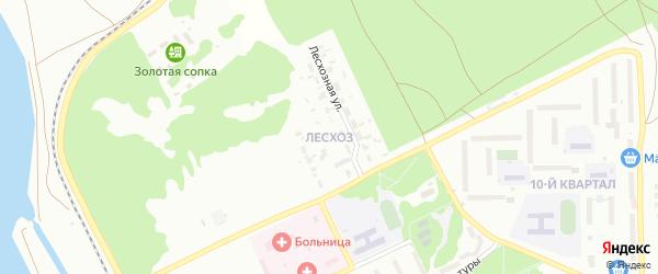 Улица Лесхоз на карте Троицка с номерами домов