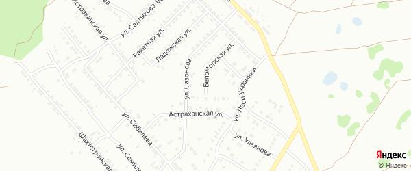 Беломорская улица на карте Копейска с номерами домов