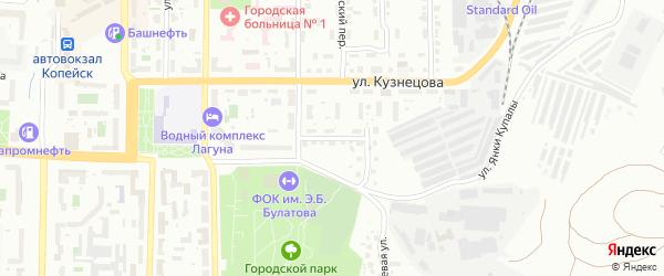 Пионерский переулок на карте Копейска с номерами домов
