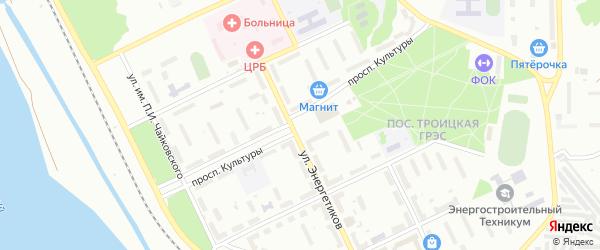 Площадь Энергетиков на карте Троицка с номерами домов