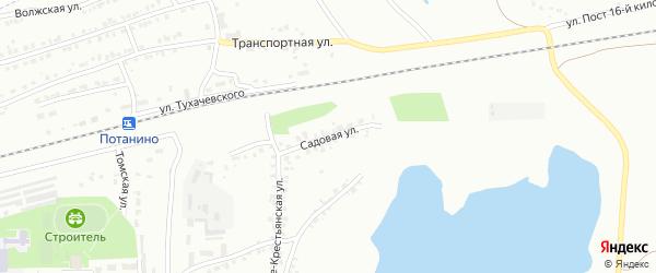 Улица Садовая (бывший РП Потанино) на карте Копейска с номерами домов