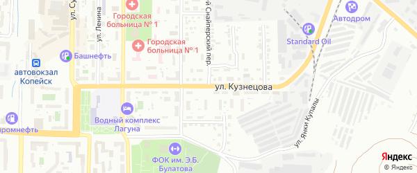 Улица Кузнецова на карте Копейска с номерами домов