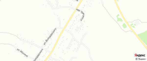 Переулок Урицкого на карте Копейска с номерами домов