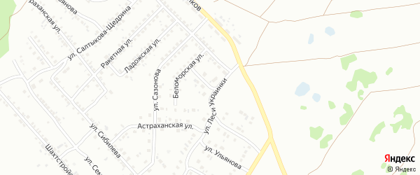 Беломорский переулок на карте Копейска с номерами домов
