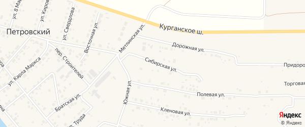 Сибирская улица на карте Петровского поселка с номерами домов