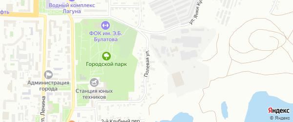 Полевая улица на карте Копейска с номерами домов