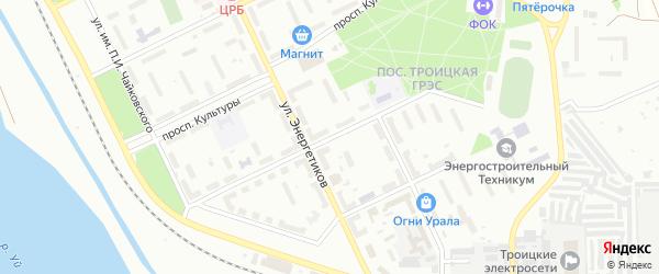 Проспект Строителей на карте Троицка с номерами домов