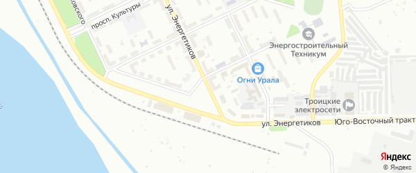 Улица Энергетиков на карте Троицка с номерами домов