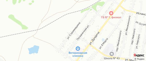 Улица Строммашина на карте Копейска с номерами домов