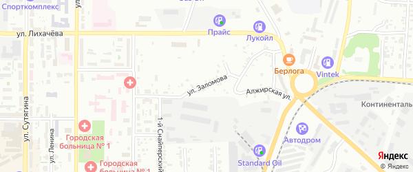 Улица Заломова на карте Копейска с номерами домов
