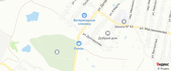 Улица Долгорукова на карте Копейска с номерами домов