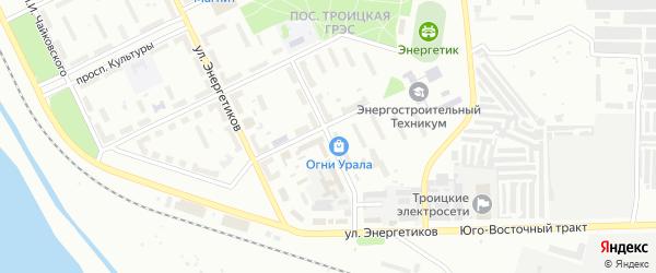 Улица им В.И.Медведева на карте Троицка с номерами домов