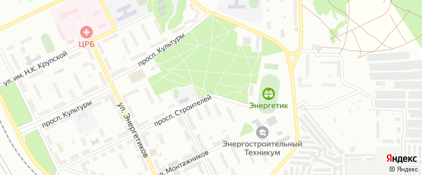 Территория ГРЭС на карте Троицка с номерами домов