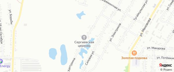 Улица Халтурина на карте Копейска с номерами домов