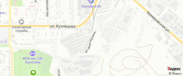 Улица Янки Купалы на карте Копейска с номерами домов