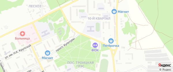 10-й квартал на карте Троицка с номерами домов