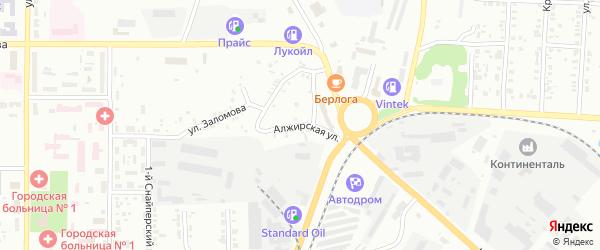 Алжирская улица на карте Копейска с номерами домов
