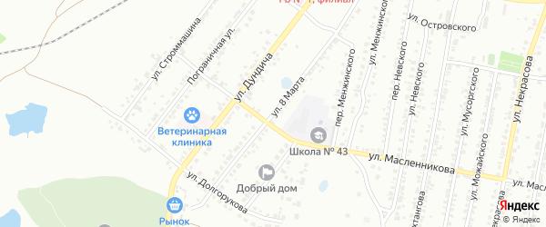 Улица 8 Марта на карте Копейска с номерами домов