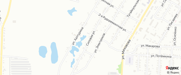 Силовая улица на карте Копейска с номерами домов
