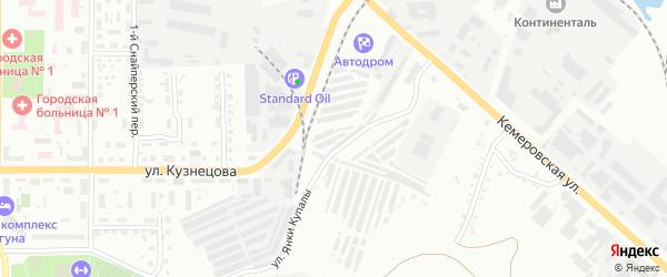 Территория ЯВ 48/15 на карте Копейска с номерами домов