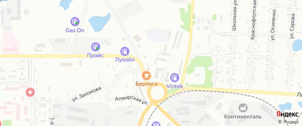 Польская улица на карте Копейска с номерами домов