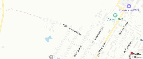 Рудоремонтная улица на карте Копейска с номерами домов