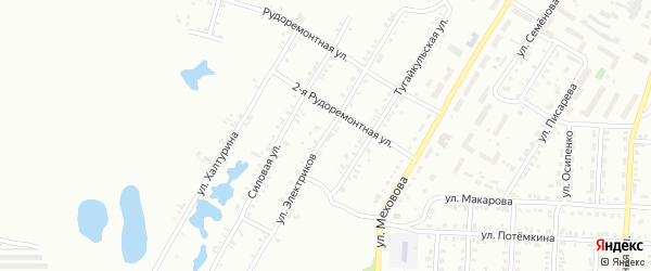 Улица Электриков на карте Копейска с номерами домов